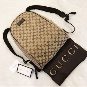 Gucci Canvas Beige Guccissima Backpack